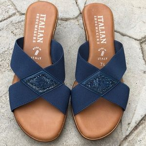 SOLD OUT Italian Shoemakers Blue Sandals